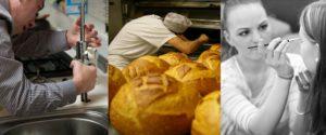 Mosaïque métiers de plombier, boulanger, maquillage